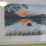 Sonnenuntergang Aquarell 40x50