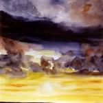 Wolken Aquarell 40x50