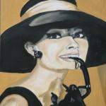 Audrey Hepburn öl LW 40x50
