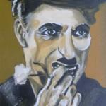 Charly Chaplin öl LW 40x50