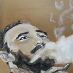 Fidel Castro öl LW 40x50