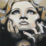 Marlene Dietrich öl LW 40x50